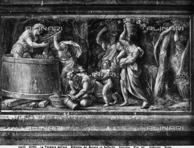 The wine-pressing, by Carlo Maratta, in the Vatican Museums, Vatican City