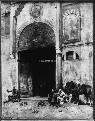 Bazaar gate, by Alberto Pasini, preserved in the Gallery of Modern Art, Rome, Lazio