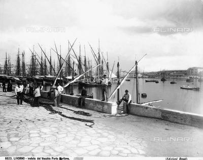 Fishermen in the Old Medicean Port in Livorno