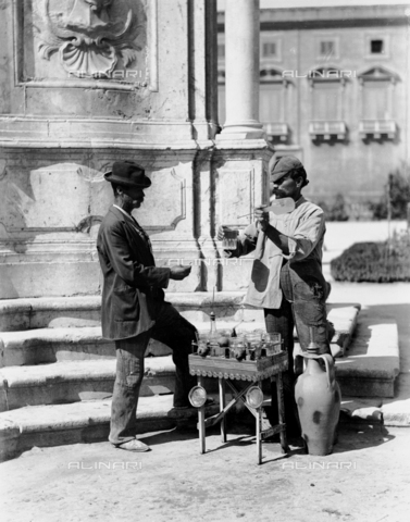 A water seller in Palermo
