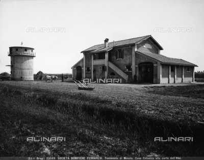 Farmhouse in the court of Ab in Mesola, rural center in the Ferrara hinterlands.