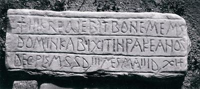 Christian funerary inscription