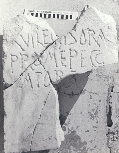 Fragmentary Christian funerary inscription