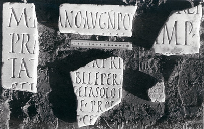 Fragmentary building inscription under Hadrian