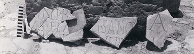 Building inscription under Hadrian
