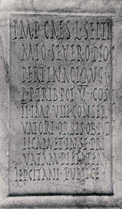 Dedication to Septimius Severus
