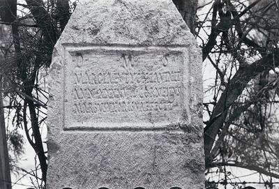 Funerary inscription for Marcia Eutychia