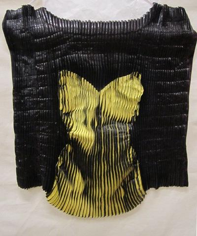 Stofpaneel van zwart tricot