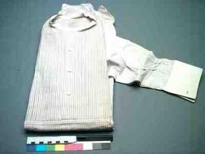 Overhemd (man) van paars/wit gestreept katoen