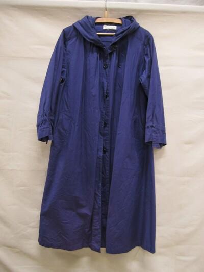 Regenmantel van blauw katoen