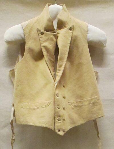 Vest (man) van geel wollen flanel