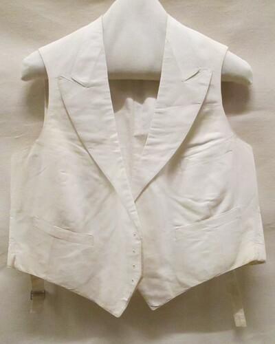 Vest (man) van wit wafelpiqué