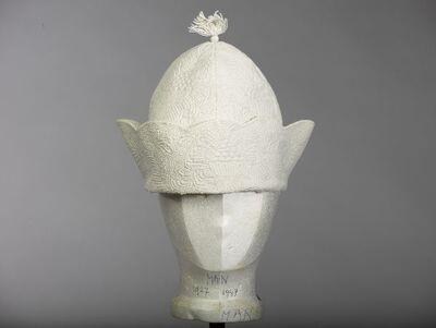 Huismuts (man) van wit linnen