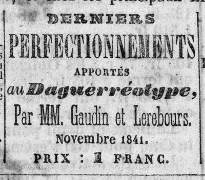 Journal des Débats - perfectionnement daguerréotype