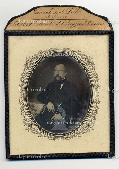 Generale Angelo Pichi di Ancona. Nel 1849 Colonello del Reggimento di Ancona.