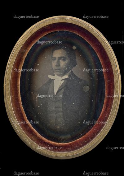 portrait of a young man, probably Angelo Alberto Reballio (rotterdam 1822-1904)