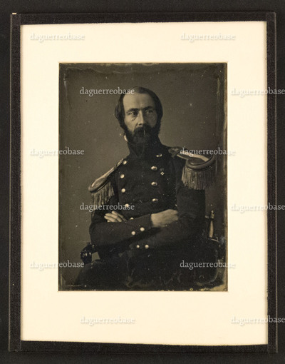 Portrait of an unknown man in military uniform