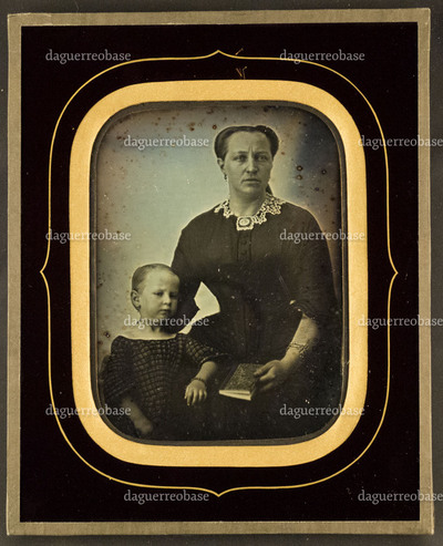 Portrait of an unknown woman and child