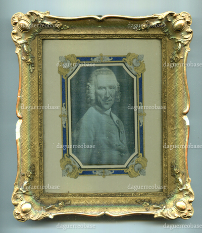 [Porträt Abraham Dürninger (1706-1773), daguerresche Reproduktion eines Gemäldes von Johann Georg Ziesenis (1716-1776)]