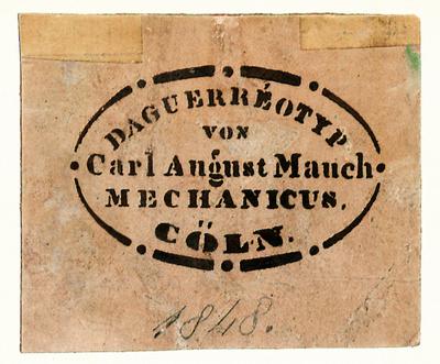 Fotografenstempel von Carl August Mauch