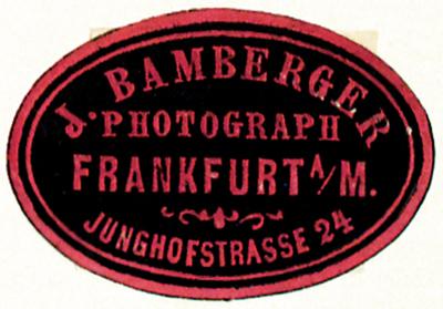 Etikett von J. Bamberger