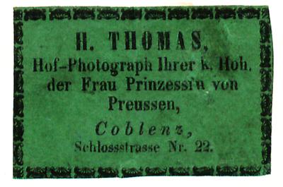 Etikett von H. Thomas