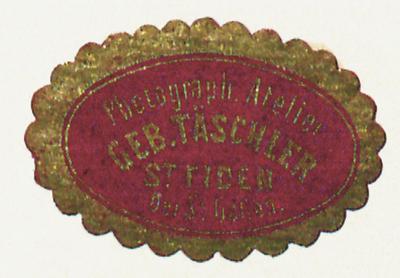 Etikett der Geb. Täschler
