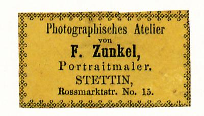 Etikett von F. Zunkel