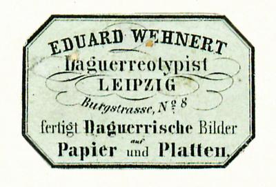 Etikett von Eduard Wehnert