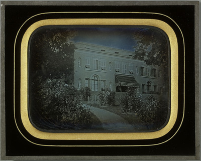 Beaulieu (VD), façade principale de la villa de la propriété de la famille Eynard