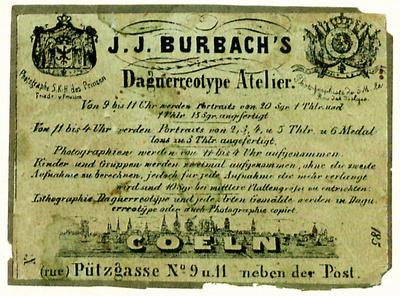 Etikett von J. J. Burbach