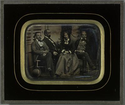 Portraits de Charles et Sophie Eynard et de leurs deux fils Gabriel et Féodor