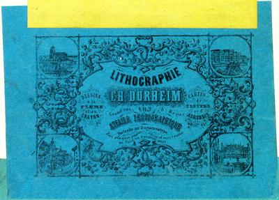 Ab 1853 pries Curheim sein Tageslicht-Atelier an.
