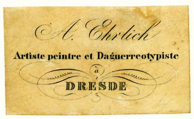 Etikett von A. Ehrlich