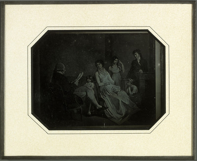 La famille Lullin, reproduction du tableau de Adolphe Lullin