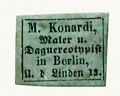 Auch in der Schreibweise Kohnardi erwähnt, seit 1843 bis um 1860 in Berlin feststellbar. Erwähnt in Wilhelm Dost unter Mitarbeit von Erich Stenger, Die Daguerreotypie in Berlin 1839-1860, Berlin 1922, S. 100.