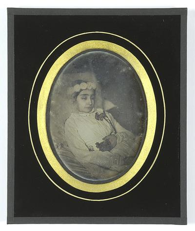 Postmortem portrait of a girl