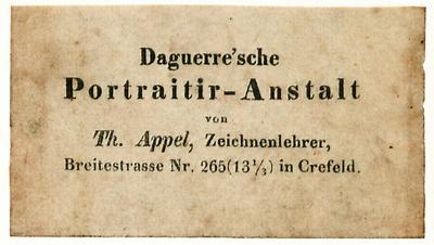 Etikett von Th. Appel