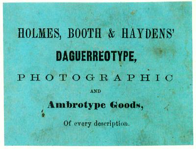 Etikett von Holmes, Booth & Haydens