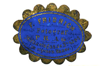 Etikett von F. Fridrich