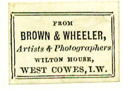Etikett von Brown & Wheeler