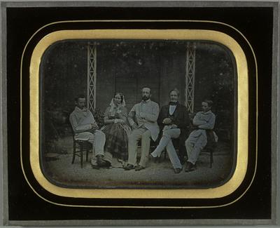 Portrait de la famille Eynard: Jean-Gabriel, Charles, Sophie, et leurs enfants Gabriel et Féodor