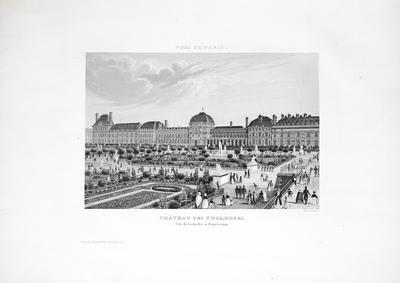 Château des Tuileries. Côté du Jardin