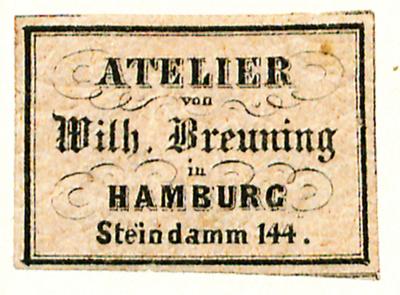 Etikett von Wilhelm Breuning