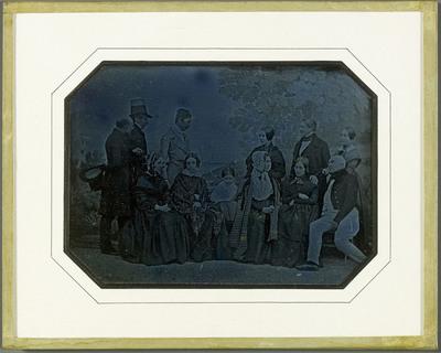 Portrait de quelques membres de la famille Eynard et de leurs amis