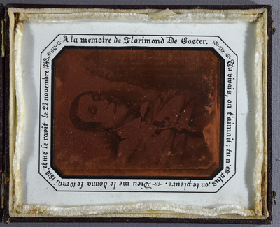 An image formed by the electro-deposition of copper onto a daguerreotype plate. / Electrotype copy of a daguerreotype of a graphic artwork.