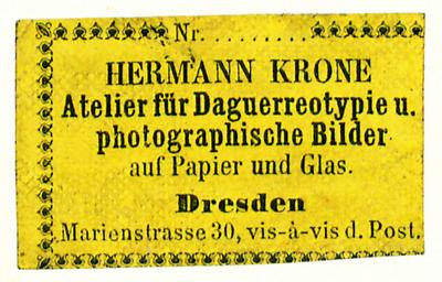 Etikett von Hermann Krone
