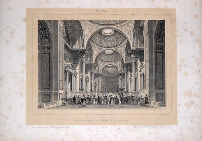 Vue intérieure de l'église de la Madeleine.