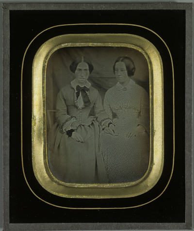 Portrait de deux jeunes filles, Hilda Eynard et Mademoiselle Achard (?)