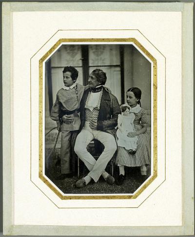 Portrait de Jean-Gabriel Eynard et de ses petits-enfants Gabriel et Hilda Eynard